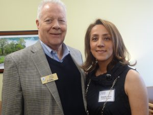 Glendale City Manager Jerry Peters and Sheedeh Kerman, Doctors Express Managing Partner