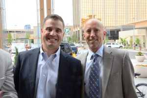 Scott Crosbie of Crosbie Real Estate, leasing agent for CitySet and Larry Harte