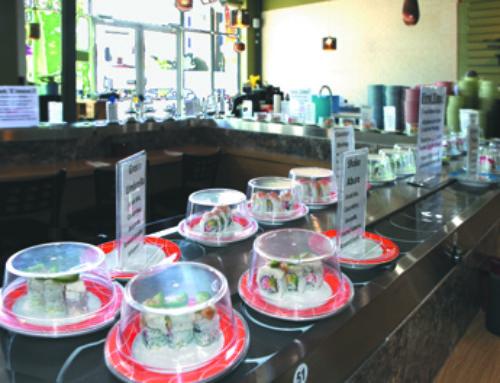 Sushi Kai In Glendale CitySet Serves Sushi On A Rotating Conveyor Belt